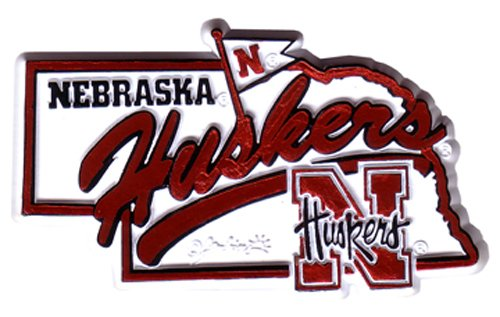 NCAA Nebraska Cornhuskers 2D Mascot Map Magnet