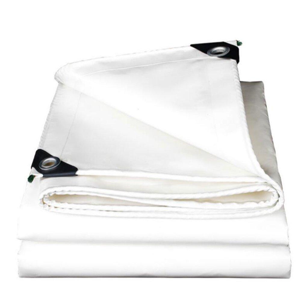 AJZGF en Plein air épaissir imperméable à l'eau de bÂche de bÂche de Prougeection Solaire de bÂche de Prougeection imperméable Coupe-Vent imperméable à l'eau de Prougeection Contre Le Vent, Blanc Blanc