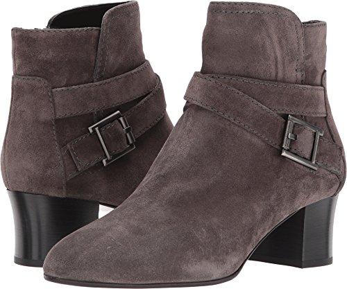 Aquatalia Women's Francique Suede Ankle Boot, Black Dark Grey