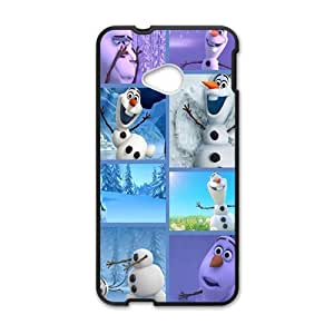 Happy Frozen lovely snow doll Cell Phone Case for HTC One M7