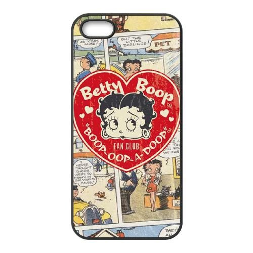 Betty Boop iPhone 4 4S Handy-Fall Hülle schwarz E5Q3CJLNDA