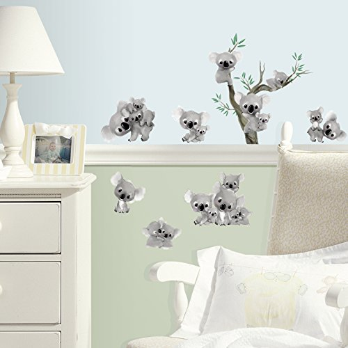 Koalas Peel and Stick Wall Decals, 10