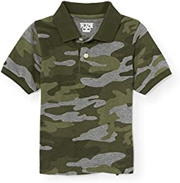 Boys Camoflauge Short Sleeve Polo
