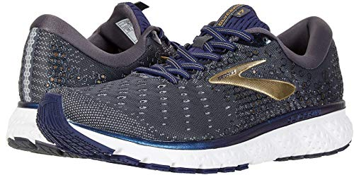 Brooks Men's Glycerin 17 Grey/Navy/Gold 9.5 D US
