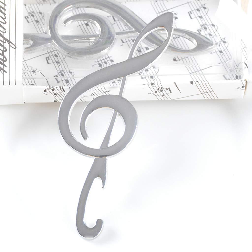 LLLucky Creative Symphony Forma de Nota Musical Abrebotellas de Cerveza Aleaci/ón de Zinc Favores de Boda port/átiles Regalos de cumplea/ños Recuerdos Suministros para Fiestas con Embalaje Plata