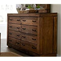 Progressive Furniture P626-23 Maverick Drawer Dresser, 66 x 18 x 41, Brown