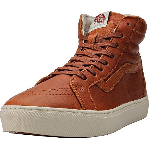 Vans Sk8-hi Kopp Ca Damestørrelse 6,5 California Lær Brun / Henna  Turteldue. sko