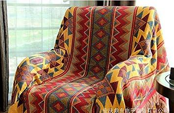 Tapicería de manta de algodón, manta de toalla de sofá Borlas vintage, mantas, fundas de punto, alfombra de punto,230*340cm: Amazon.es: Deportes y aire ...