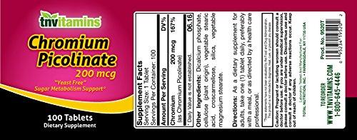TNVitamins Chromium Picolinate 200 Mg 100 Capsules by TNVitamins (Image #6)