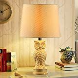 Ceramic table lamp bedroom bedside lamp modern simple table lamp creative fashion American light Push Button Switch