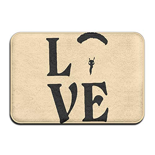 Price comparison product image Love Parachuting-Skydiving Non-Slip Floor Mat 60cm X 40cm Bathroom Absorbent Floor Mat