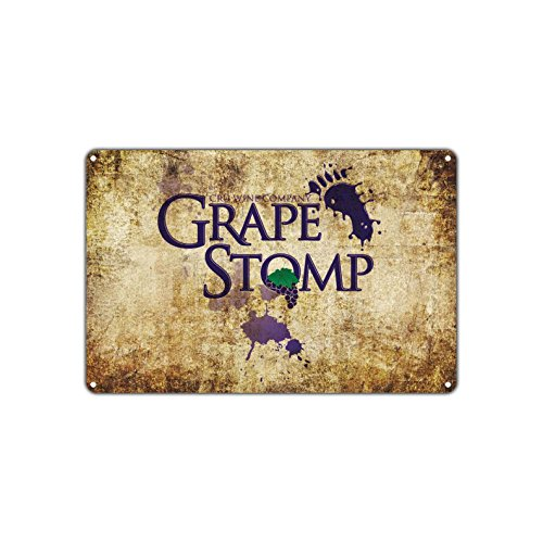 Grape Stomp Grapefest Event Retro Sign