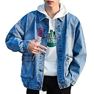 Men's Autumn Winter Vintage Casual Thicken Denim Jacket Coat