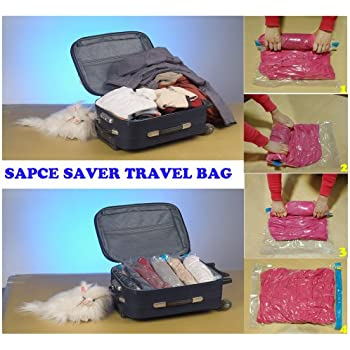 Amazon.com: 20 Pcs Roll Up Viaje Space Saver Ahorro ...