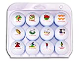 Christmas Golf Balls, Twelve Days of Christmas Themed - Authentic and PGA Approved, Mens and Womens Golf Balls. The Best Christmas Gift for a Golfer!