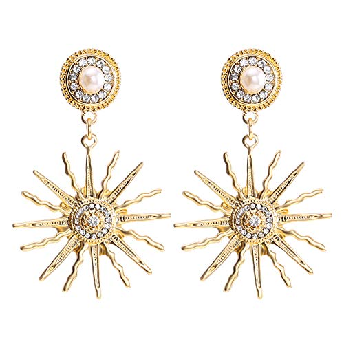 03ff8055d LILIE&WHITE Sun Drop Earrings Moon and Star Stud Earrings for Women with  Rhinestone