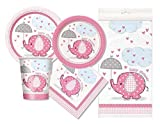 Pink Elephant Baby Shower Party Package - Serves 16 (Pink)