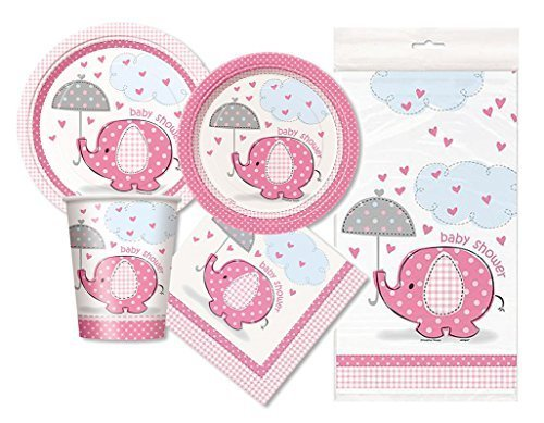 Pink Elephant Baby Shower Party Package - Serves 16 -