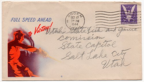 (US Postal Cover 1944 WWII Era Victory 3 Cent Postage Stamp Scott #905)