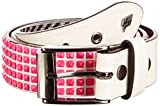 Lowlife Devoid White Neon Pink Studs Studded Belt LL509 Large