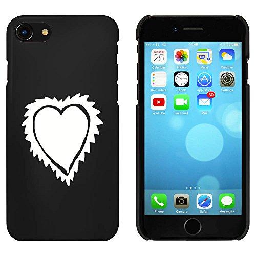 Noir 'Coeur à Fanfreluches' étui / housse pour iPhone 7 (MC00073139)