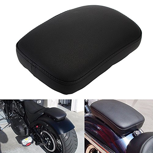 Custom Chopper Softail (6 Suction Cup Rectangular Pillion Passenger Pad Seat For Harley Sportster Fatbob Dyna Softail Custom Chopper Cruiser Cafer Custom Universal)