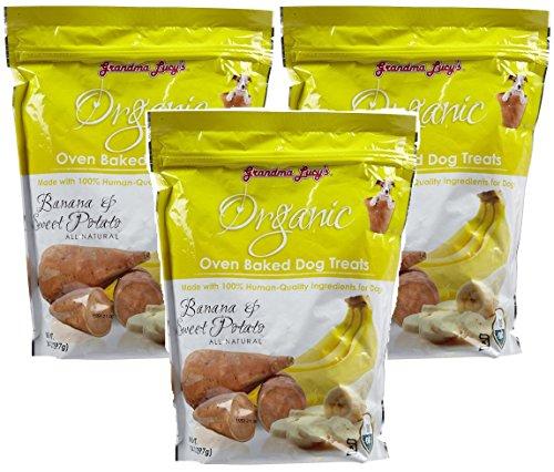 (3 Pack) Grandma Lucy's Organic Baked Banana Sweet Potato Treat for Pets, 14 Ounces each