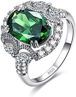 Sterling Silver Antiqued Synthetic CZ Ring