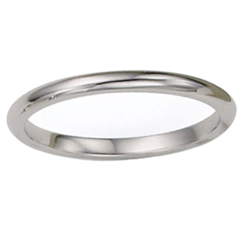 2mm plain polished platinum fort wedding band jewelry