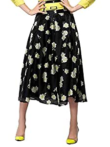 Pretty Floral Midi Skirt With Sash 8762602J0K6252150MH Color Yellow Size S