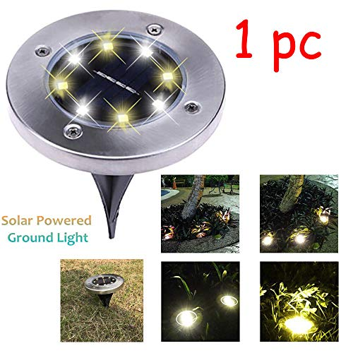 Keyboard Solar Illuminated (Solar Light,coersd LED Solar Power Buried Light Under Ground Lamp Outdoor Path Way Garden Decking)