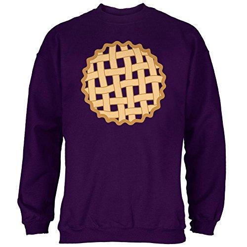 Purple Pie Man Costume (Halloween Lattice Pie Costume Grape Mens Sweatshirt Purple LG)