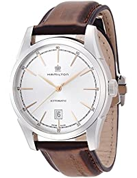 Men's 'American Classic Spirit Of Liberty' Swiss Automatic Stainless Steel Casual Watch, Color Brown (Model: H42415551)
