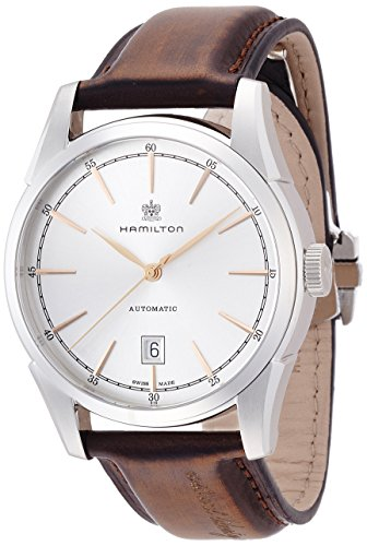 Hamilton Men's 'American Classic Spirit Of Liberty' Swiss Automatic Stainless Steel Casual Watch, Color:Brown (Model: H42415551)