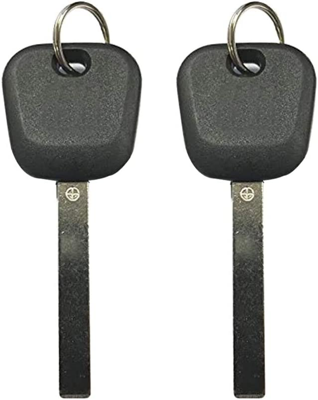 New Replacement Transponder key Chipped Uncut Blade High Security Circle +// B120-PT for GM 2 Pack