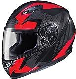 HJC Helmets CS-R3 Unisex-Adult Full Face Treague Motorcycle Helmet (Black/Red, Medium)