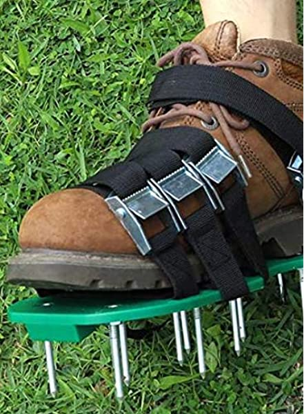 Lawn Aerator Shoes Sandals Plastic Grass Aerating Spikes C5A2 Tool Sod Yard O3G1