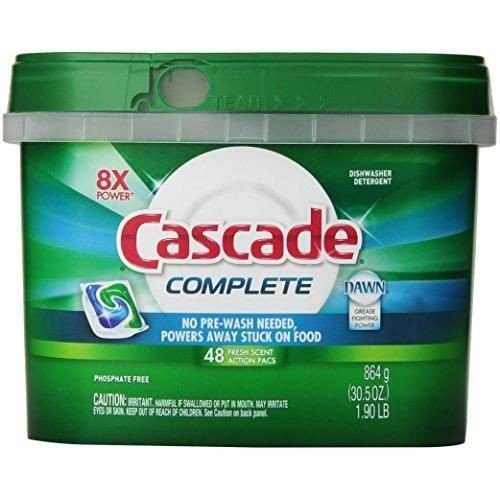 Price comparison product image Nceonshop(TM) Cascade Complete All-in-1 ActionPacs Dishwasher Detergent, Fresh Scent, New