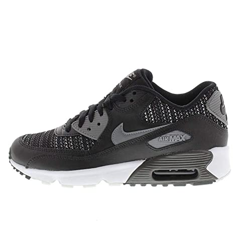 new product 89445 f42fd Nike Men s s Air Max 90 Mesh Se (Gs) Running Shoes Multicoloured (Black