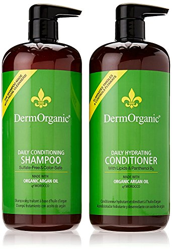 DermOrganic Daily Shampoo and Hydrating Conditioner with Argan Oil Duo Set , 33.8 fl.oz each