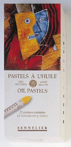 Sennelier Oil Pastels Cardboard Box Set of 12 Standard - Assorted Colors (japan import) 132520-120