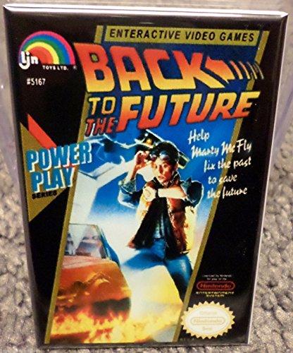 Back To The Future Nes Game - Back to the Future Nintendo NES Vintage Game Box 2x3 Fridge Locker MAGNET