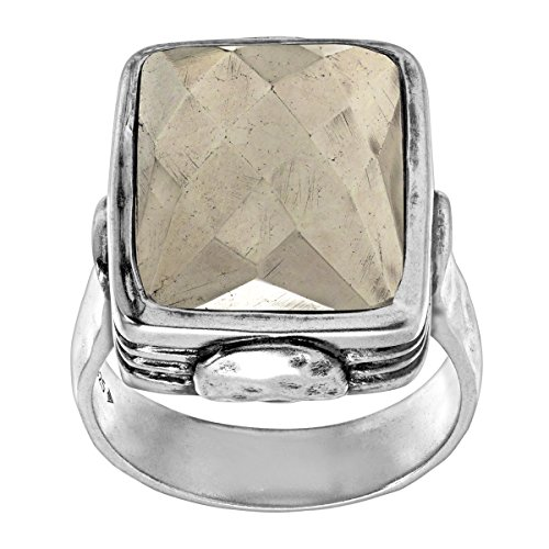 Silpada Jewelry (Silpada 'Amarillo' Pyrite and Sterling Silver Ring, Size 11)