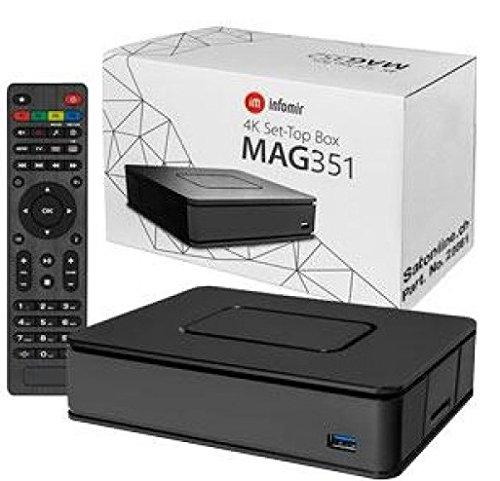 Infomir Mag 351 IPTV 4K Set Top Box with 8GB Flash Dual Wifi and Bluetooth