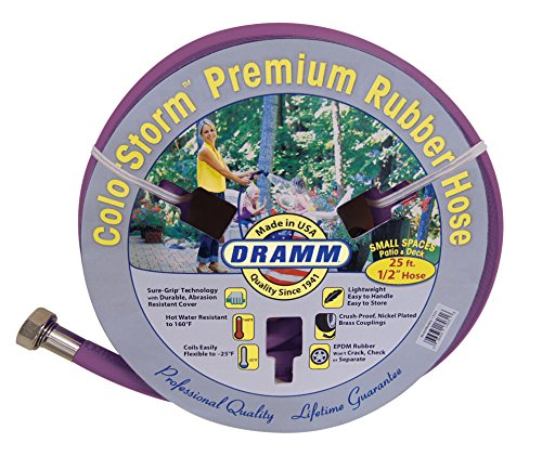 Dramm 17036 Colorstorm Premium Rubber Garden Hose, 25' x 1/2, (Dramm Hose)