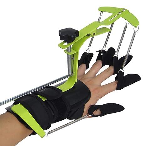 Amhuui Mano Dedo muñeca ortopédicos Exerciser, Dedo Ajustable muñeca Strengthener Entrenador orthosis Equipo