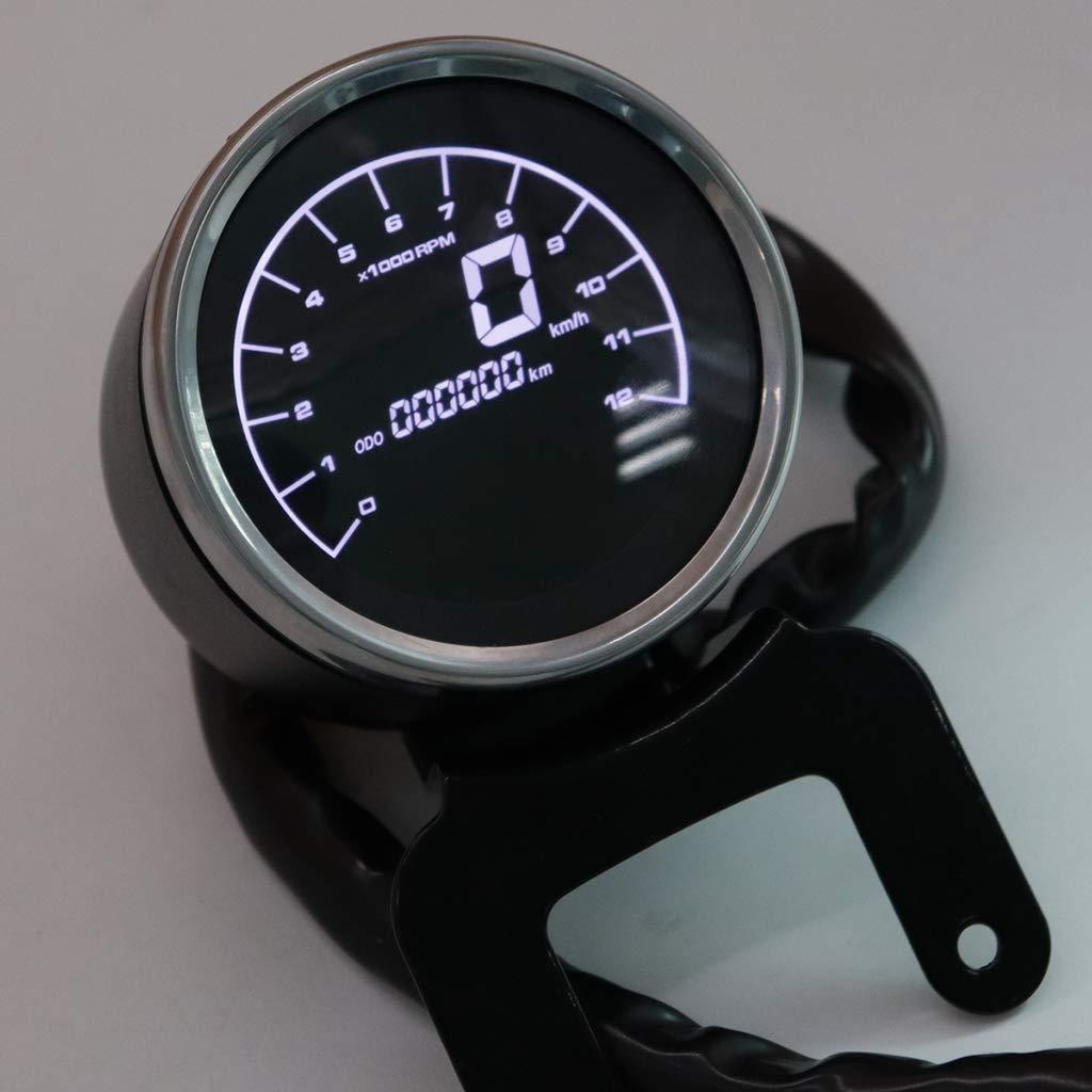 Contachilometri Moto kesoto Multifunzione Tachimetro Moto Digitale LED Contagiri Moto