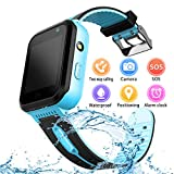 YENISEY Kids Waterproof Smart Watch, Children Phone IP67 Waterproof Smartwatch, Upgrade Touchscreen Smartwatchs, LBS Tracker SOS Anti-Lost Remote Camera Monitoring, Puzzle Game Watch for Girls Boys