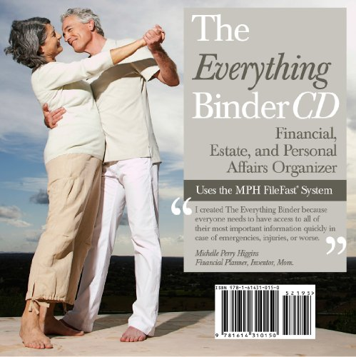 The Everything Binder CD - Financial, Estate and Personal Affairs Organizer