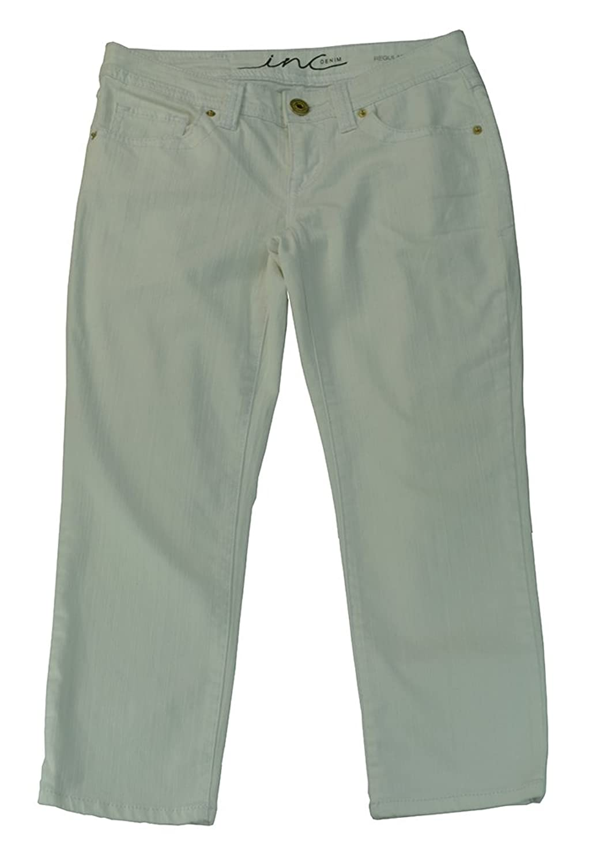 INC. International Concepts Women's Regular Fit Jeans 0 White
